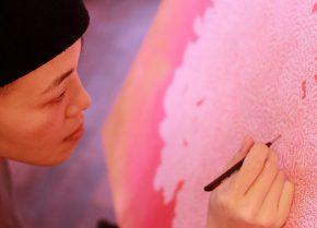 張 楚靈,Chuling Chang,ツーリン チャン,手描きアート,絵,フュージョンダンサー,
